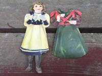 Antique J&P Coats Diecut Paper Doll Girl w Dress e.1900's Victorian Advertising