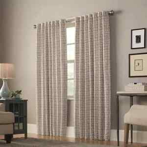 allen + roth 84-in Mineral Light Filtering Lined Back Tab Single Curtain Panel