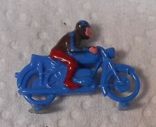 Vintage Lego Denmark HO 1:87 Man On Motorcycle Blue