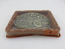 OK Firefighters Assoc. 1928 AHRENS FOX Fire Truck Brass Belt Buckle NOS