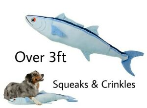 Top Paw® 2X-Large Sunshine Tuna Dog Toy - Plush, Squeaks & Crinkles Over 3 FT!