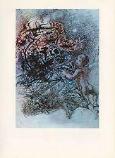 """1976 Vintage SALVADOR DALI """"SAINT ANNE and SAINT JOHN COLOR Art Print Lithograph"""