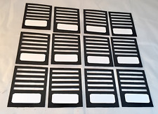 Tim Holtz Die Cuts * Stitched Slots * Black Cardstock * Set of 12 * New Design!