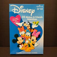 32 HALLMARK Disney MICKEY FRIENDS new Valentines Cards + LARGE TEACHER CARD NOS