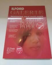 """Ilford Galerie Smooth Pearl Paper 8.5"""" x 11"""" 290gsm 25 sheets Brand New Sealed"""