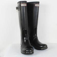 Hunter Ladies Black Rain Boots Size 5M/6F/ EU 37