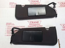 2005-2013 CORVETTE VANITY MIRROR gm C6 NEW BLACK SUN VISORs PAIR  SHADED NEW 07