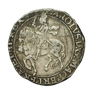 Charles i hammered silver Halfcrown  mm Triangle in Circle  S2779