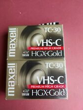Maxell TC-30 VHS-C Camcorder Videocassette 2 Pack New Sealed