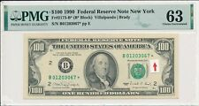 Federal Reserve Note New York USA  $100 1990 Star note PMG  63