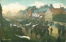 PC RUGLEN GYPSY HORSE FAIR STREET SCENE LANARKSHIRE c1910
