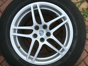 "PORSCHE MACAN 18"" REAR ALLOY WHEEL & TYRE 95B601025AS GENUINE OEM PART #2"