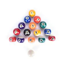 children billiards table balls full sets 38mm resin small billiard pool balls LU