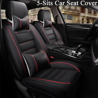 Deluxe Edition Full Surrounded Car 5-Sits Seat Cover PU Leather w/ Neck Pillows