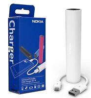 NOKIA DC-16 2200mAh UNIVERSAL USB MICRO USB PORTABLE CHARGER POWER BANK  - White
