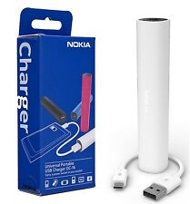 NOKIA DC-16 2200mAh UNIVERSAL USB MICRO USB PORTABLE CHARGER POWER BANK  - White