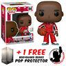 FUNKO POP VINYL NBA MICHAEL JORDAN RED WARM UP #84 EXCLUSIVE + POP PROTECTOR