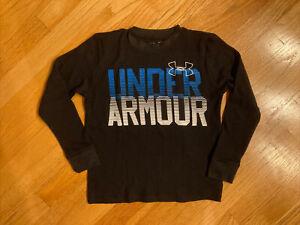 under armour size yxs xs boys black thermal shirt loose