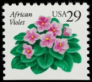 US #2486 African Violet 29c single stamp Mint Never Hinged from Booklet Pane
