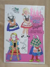 New Vintage 6 Stand Up Paper Dolls From Storyland Saalfield 1354 Uncut Book