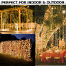 300/600 Led Curtain Fairy String Lights Wedding Outdoor Christmas Garden Party