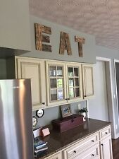 """15"""" Large Custom Reclaimed Wood Rustic Letters """"EAT"""" - Home Kitchen Decor"""