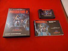 Predator 2 Sega Mega Drive (Genesis) COMPLETE w/ Box manual game WORKS!