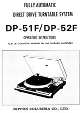 Denon DP-52F Turntable Owners Manual