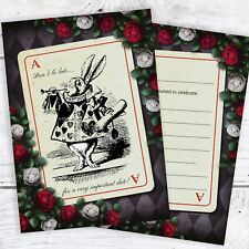 Alice in Wonderland Party Invites. Mad Hatters Tea Party & Envelopes (Pack 10)