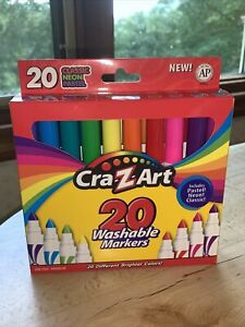 CRA-Z-ART WASHABLE MARKERS [20 COUNT BOX] -- BRAND NEW
