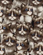 Fat Quarter Moody Grumpy Cat 100% Cotton Quilting Fabric