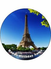 EIFFEL TOWER 19CM EDIBLE ICING IMAGE CAKE TOPPER #1