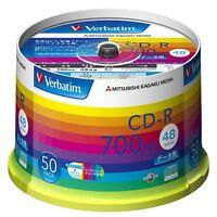ya08270 50 Verbatim Blank CDR Discs 700MB 48x CD-R SR80SP50V1 Spindle from Japan
