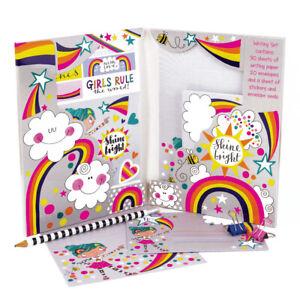 Girls Rule Suki Starburst Writing Set Wallet Stickers Rachel Ellen Designs