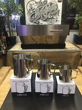 COFFEE MACHINE WAREHOUSE SET OF  STAINLESS STEEL MILK JUGS BARISTA QUALITY LATTE