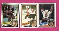 1984-85 OPC BRUINS KEANS RC  + NY FLATLEY  RC + FLYERS POULIN RC  (INV# C2098)