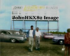 RARE LANGHORNE SPEEDWAY INDY 500 SCORING TOWER PHOTO-JOHNNY LIGHTNING-AL UNSER