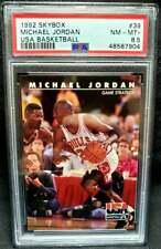 Michael Jordan 1992 Skybox USA Team #39 PSA 8.5 Near Mint - Mint + HOF 1992-93