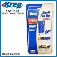 "Shelf Pin Jig with ¼"" (6mm) Drill Bit - KMA3200"