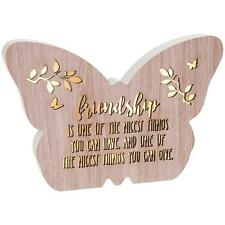 Friend Gift - Floral Butterfly Light Up LED plaque with sentiment 272040