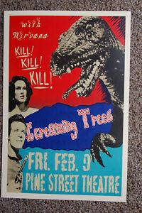 Screaming Trees Concert poster 1990 Pine Street Theatre Nirvana----