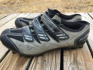 Specialized Gray Black Suede Leather Body Geometry Cycling Shoes Size 11 Men's