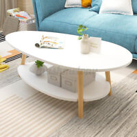 Round Coffee Table Bedside Sofa Sides Nordic Wood Living Room Desk Furniture USA