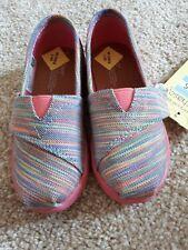 Bébé Filles Toms Blue Aster Chaussures/espadrilles taille 7 BNWT