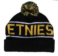 Etnies Black Yellow Steppen Skateboarding Pom Beanie Winter Hat