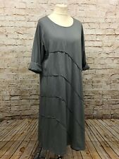 Moonshine Fashion Kleid Tunika lang Lagenlook Übergröße 44 46 48 50 52 NEU grau