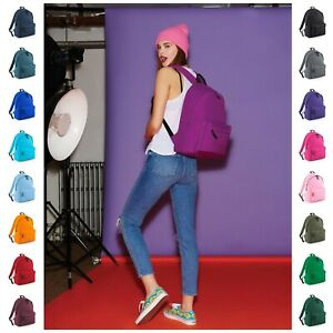 Backpack Mens Womens Girls Boys Plain Backpack Bag School College Rucksack