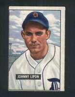 1951 Bowman #285 Johnny Lipon VG/VGEX RC Rookie Tigers 104838