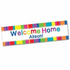 Welcome Home Personalised Party Banner 60 x 17 inches - Add your own message