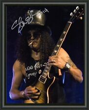 SLASH - A4 SIGNED AUTOGRAPHED PHOTO POSTER  FREE POST